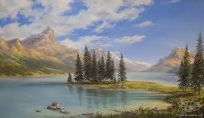 Image result for paintings of mountain scenes