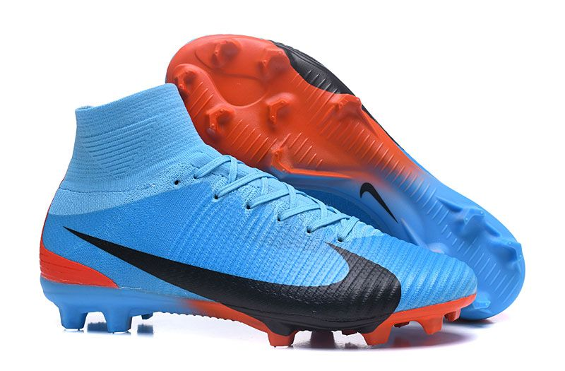 newest f65f4 e0ff7 New Nike Mercurial Superfly V FG Boots , in Blue Red Black ...