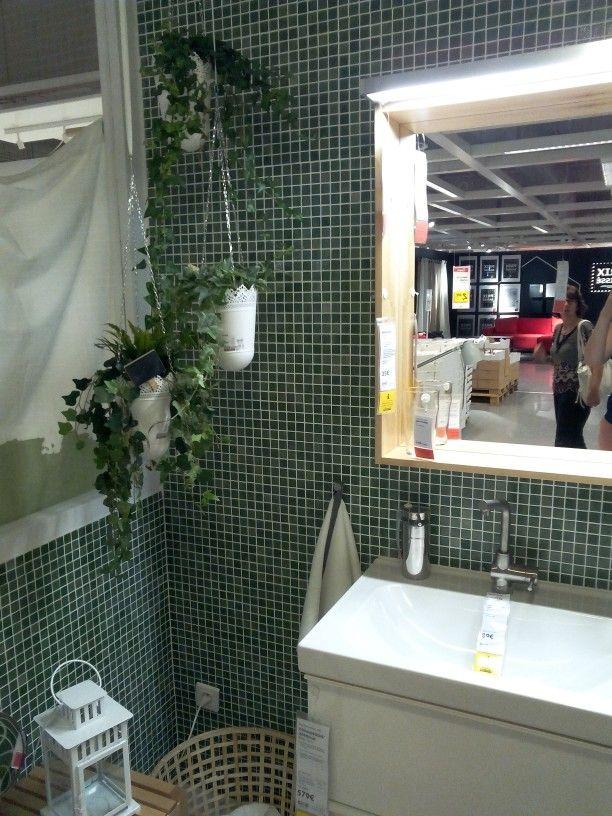 3 ces petits carreaux verts pour une salle de bain très nature - petit carreau salle de bain