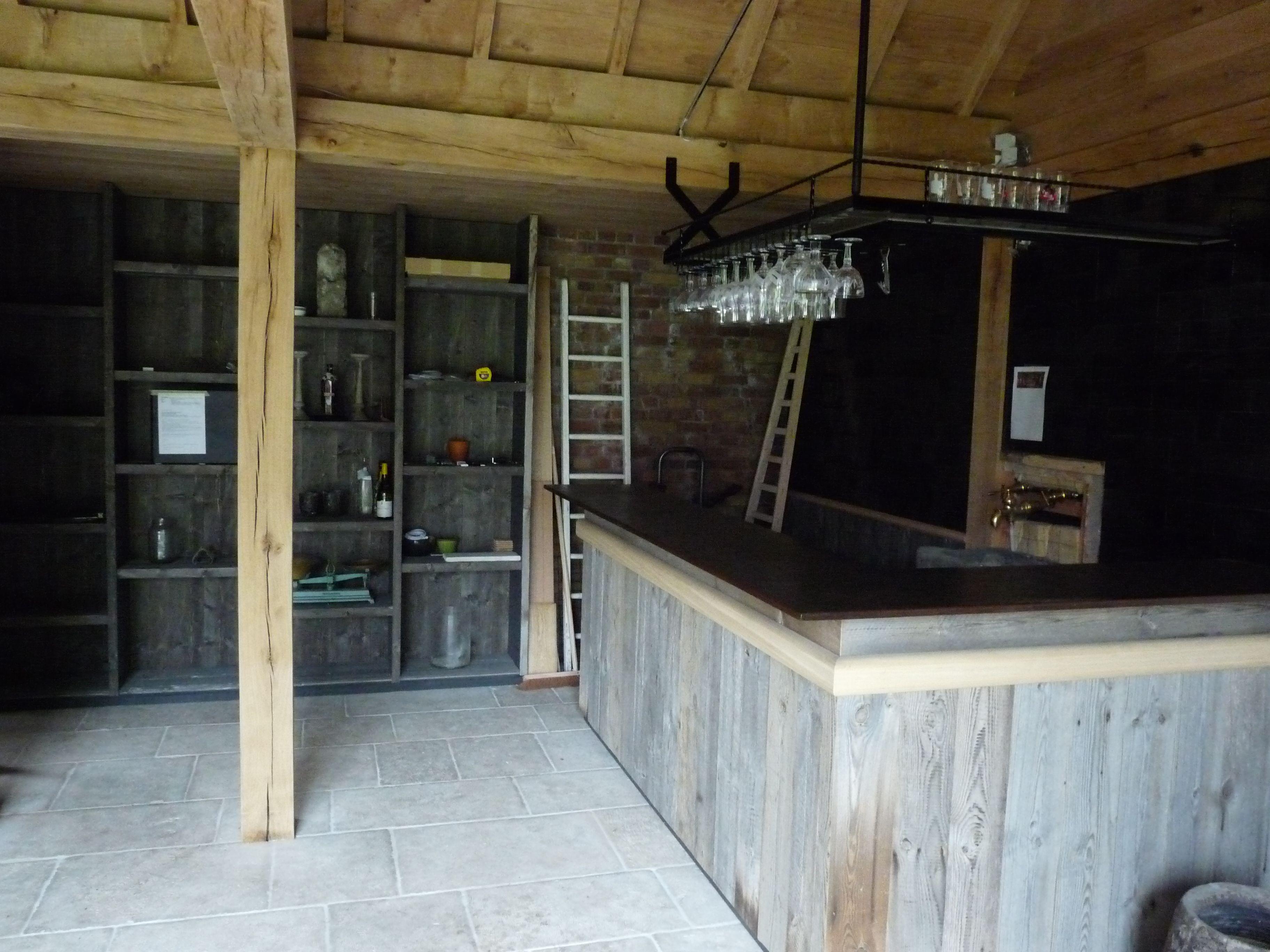 Houten Bar In Barnwood Barnwood Eiken Gebouw Inrichting