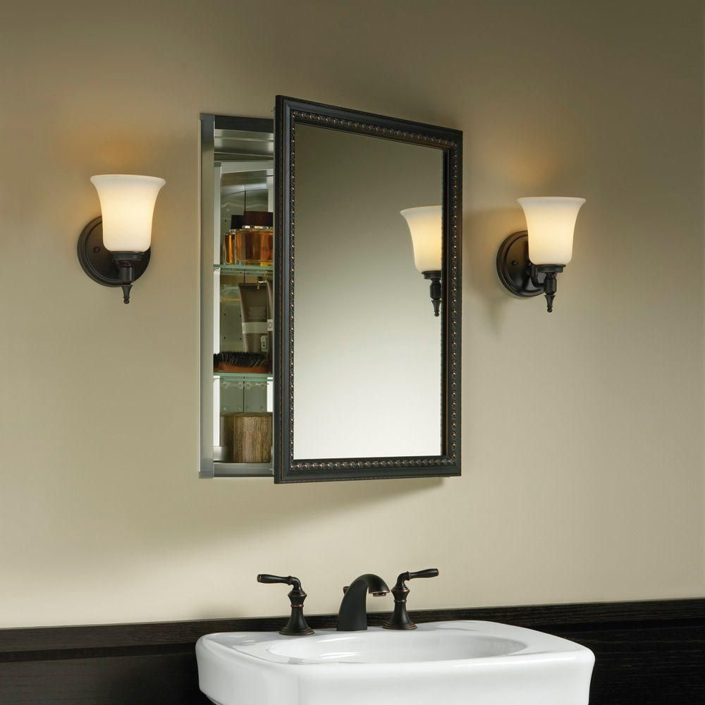 Kohler 20 In X 26 H Recessed Or Surface Mount Mirrored Medicine Cabinet