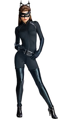 last minute halloween choices adult catwoman costume the dark knight rises batman - Halloween Costume Idea Women