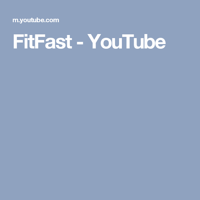 FitFast - YouTube