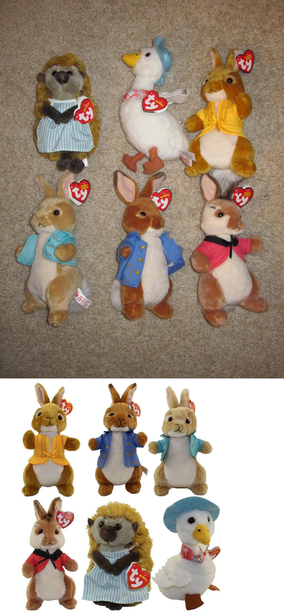 ac5e881f6a0 Current 165959  Ty Beanie Babies Peter Rabbit Movie Full Set Of 6 Benjamin  Cotton Tail