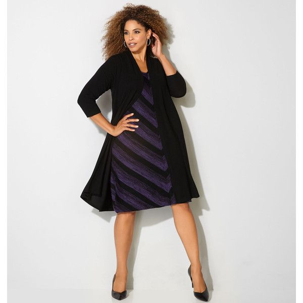 Purple jacket dress plus size