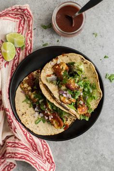 Garlicky Halloumi Tacos with Hot Sauce and Onion