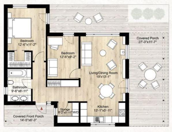 Planos y fachadas de casas modernas de 72m2 plano for Fachadas de apartamentos modernos