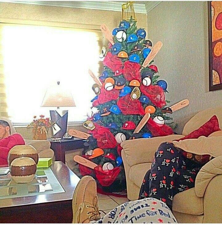 Definitivamente, mi árbol de navidad del próximo año ⚾ #Baseball
