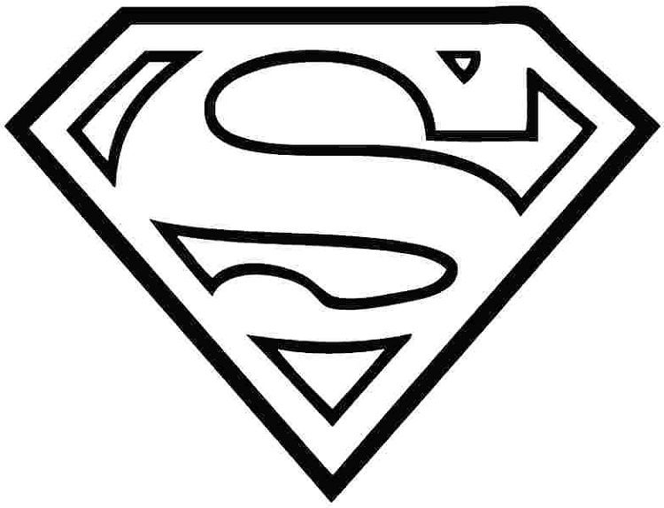 Superman Logo Coloring Pages Superman Coloring Pages Superhero Template Superman Logo