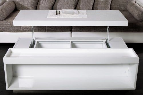 Moderner Couchtisch finebuy design holz couchtisch living 130 cm ausklappbar weiß