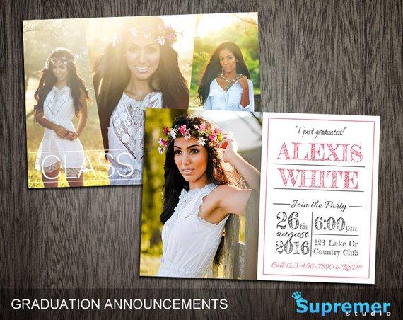 Graduation Announcements Templates - Graduation Card Templates