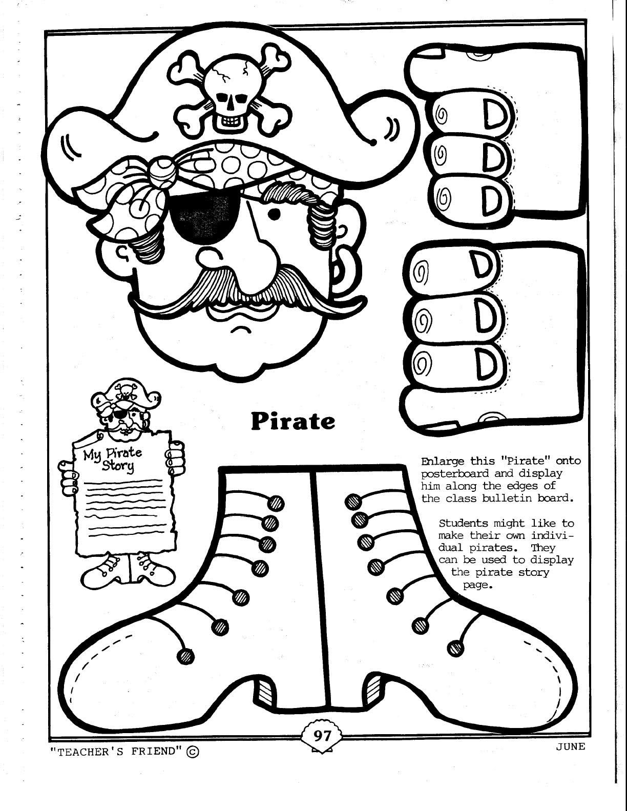 Pin by amy whittington on preschool pirates pinterest for Pirate coloring pages for preschool
