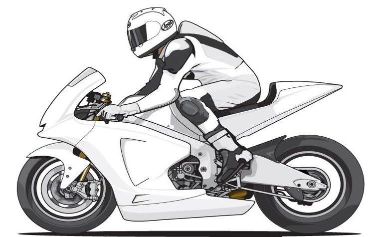 Dibujos De Motos Para Colorear E Imprimir Bicicleta Dibujo Moto