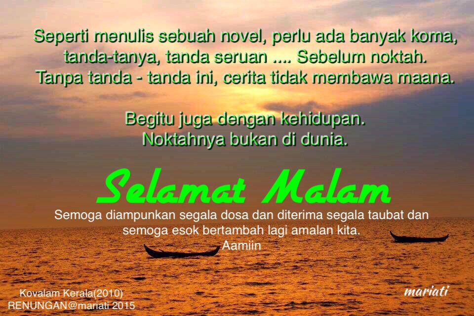 Selamat Malam Good Morning Good Night Best Quotes Inspirational Quotes