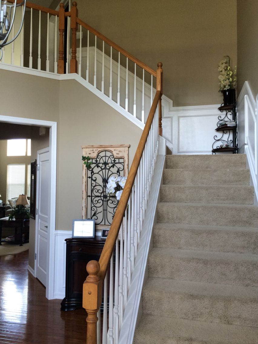 Chair Rail Shadow Boxes Going Upstairs And In Foyer Love It Home Shadow Boxes Foyer