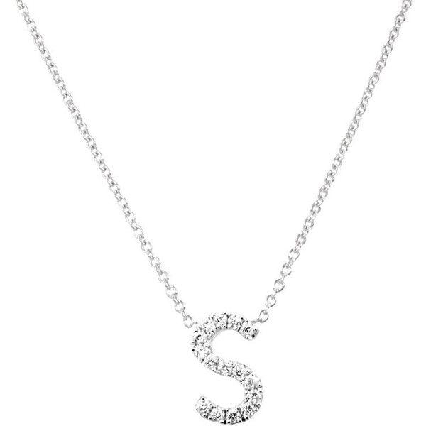 Genuine Diamond Necklace Fine Jewelry Gift For Her Pave Diamond Letter Necklace Initial Necklace Diamond Letter Necklace