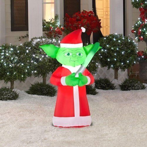 Star Wars Yoda Lighted  Inflatable  Santa      >>>>> On SALE  http://bit.ly/2gwqxGC