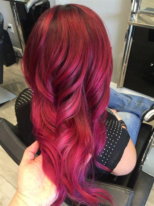How To Wear Pink Hair 3 Ways Magenta Hair Pink Hair Red Pink Hair