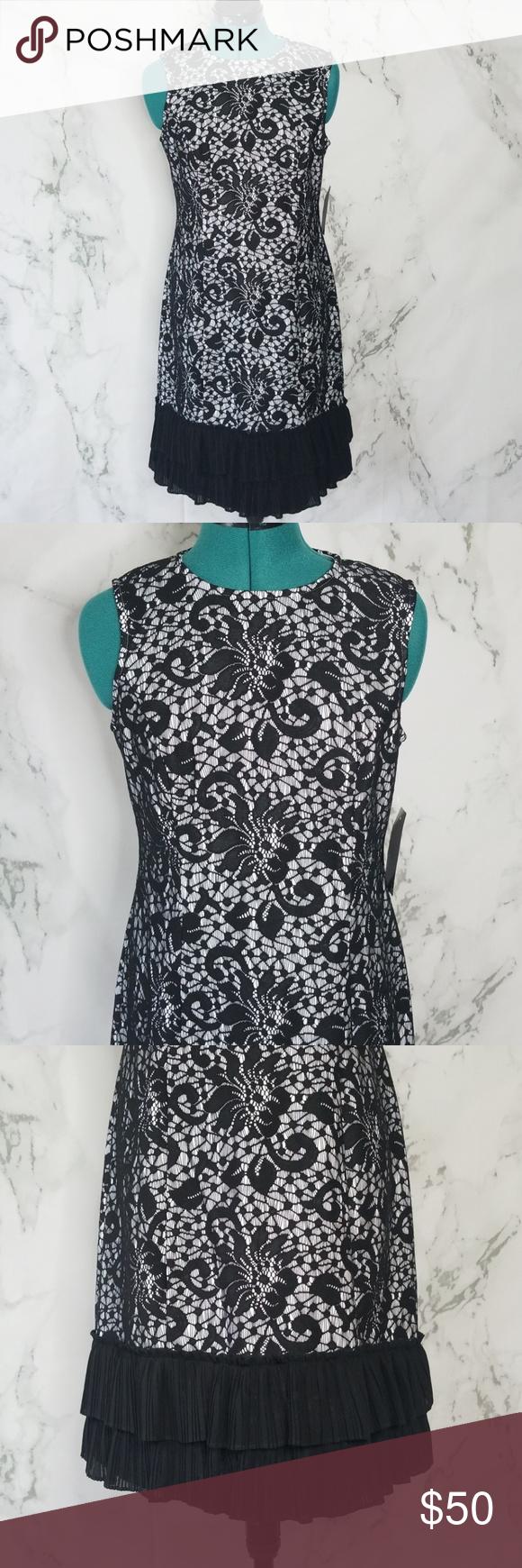 Donna ricco lace ruffle dress nwt my posh picks pinterest
