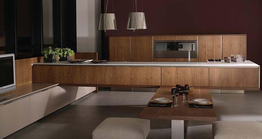 Muebles de cocina. g 680 acabado nogal siena / g 580 yeso brillo ...