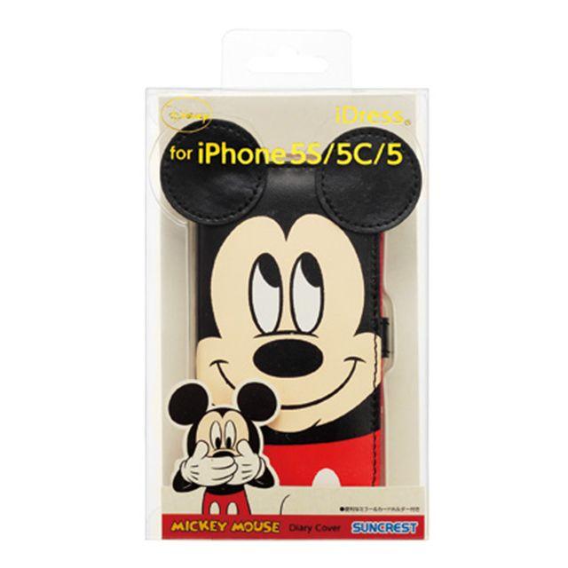 【【iPhone5s/5c/5 ケース】ディズニーダイアリーカバー ダイカットミッキー】サンクレスト