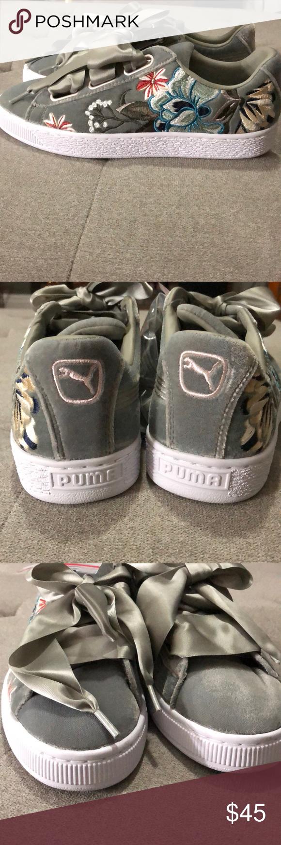 Puma basket heart, Pumas shoes