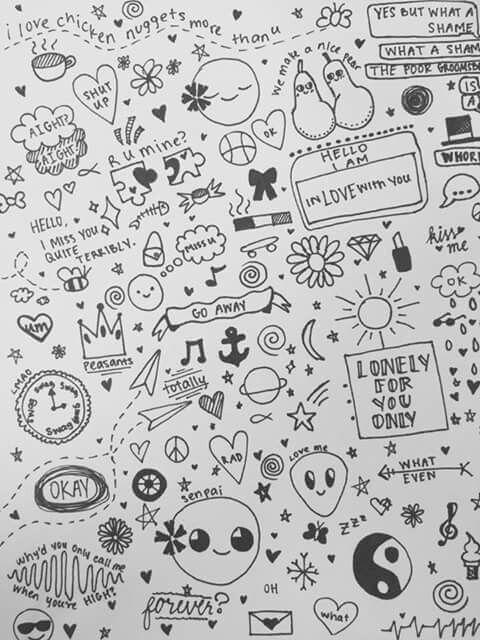 Simbolos Pequenos Desenhos 9 Doodle Art Ideias Para Caderno De