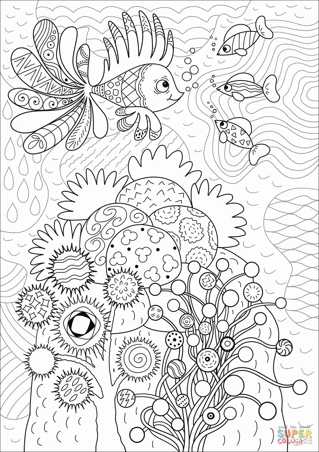 Coral Reef Coloring Page Fresh Lionfish In Coral Reef