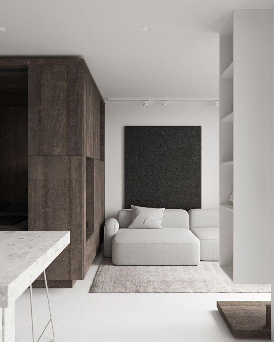 Minimal Interior Design Inspiration   213   Interior design apartment small, Small apartment ...
