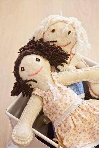 Handmade rag-dolls