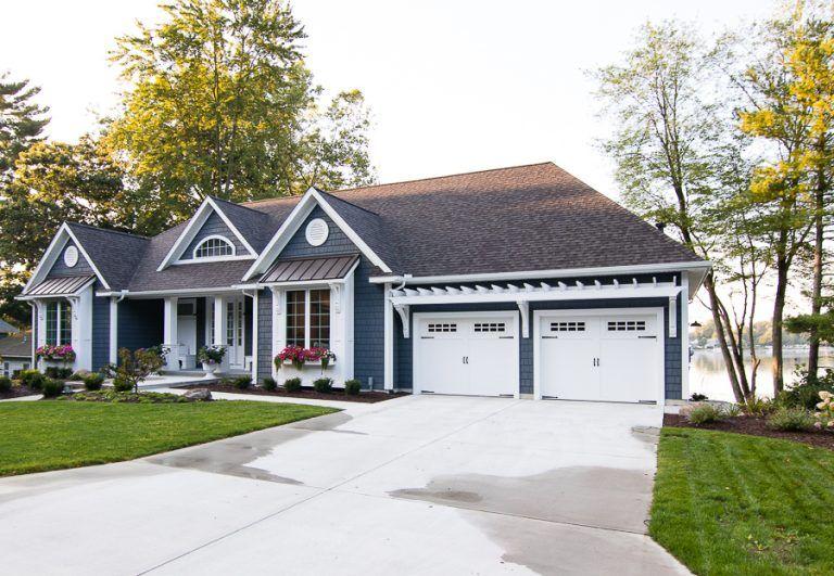 Lake House Exterior – Street Side