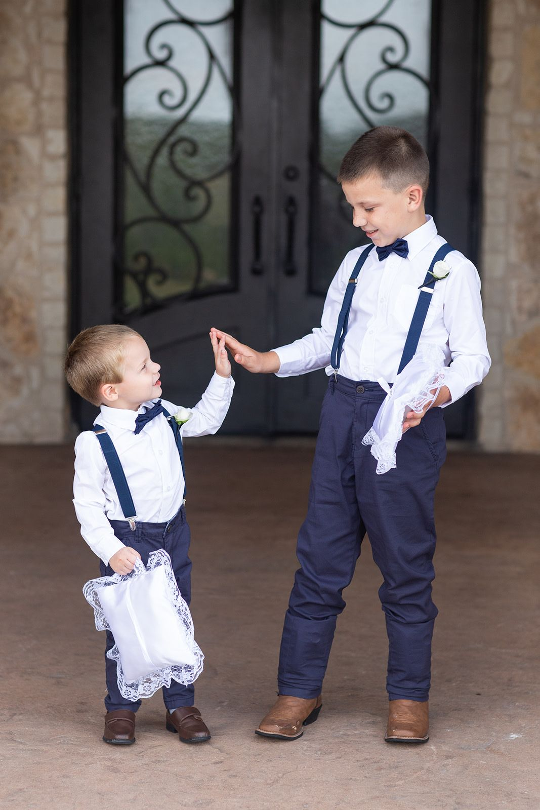 e45a2e6c0d summer wedding ring bearer outfits | ring bearers in navy blue pants,  suspenders,