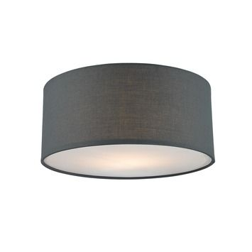 Plafondlamp Fenna doorsnee 25cm grijs | Plafond- & wandlampen ...