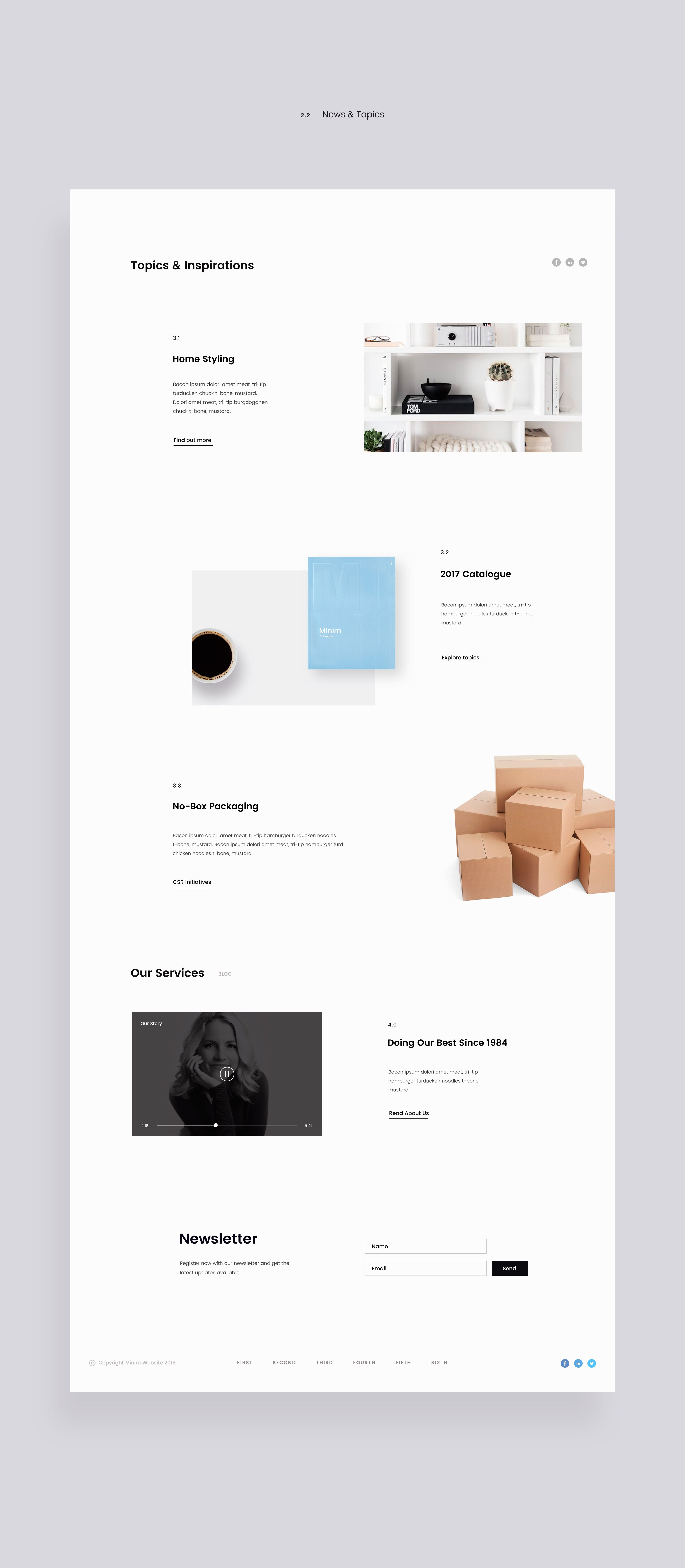 Minimalist e-commerce website design with clean and easy interface ...