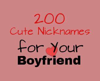 unique call signs of boyfriend and girlfriend
