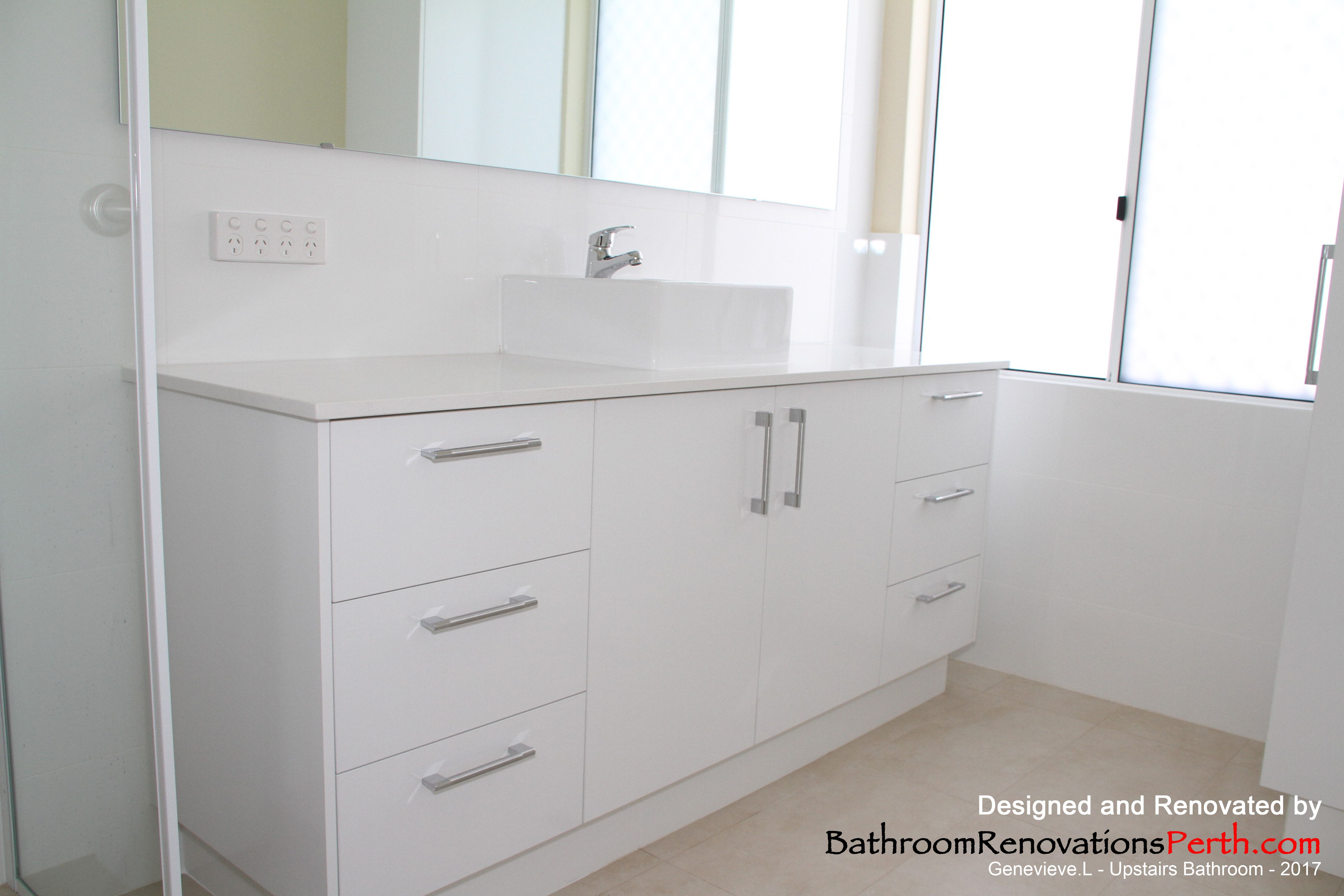 Upstairs bathroom designed & renovated by Bathroom Renovations Perth ...
