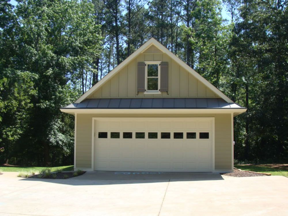 Love this detached garage with the metal roof mi casa es for Garage roofing options