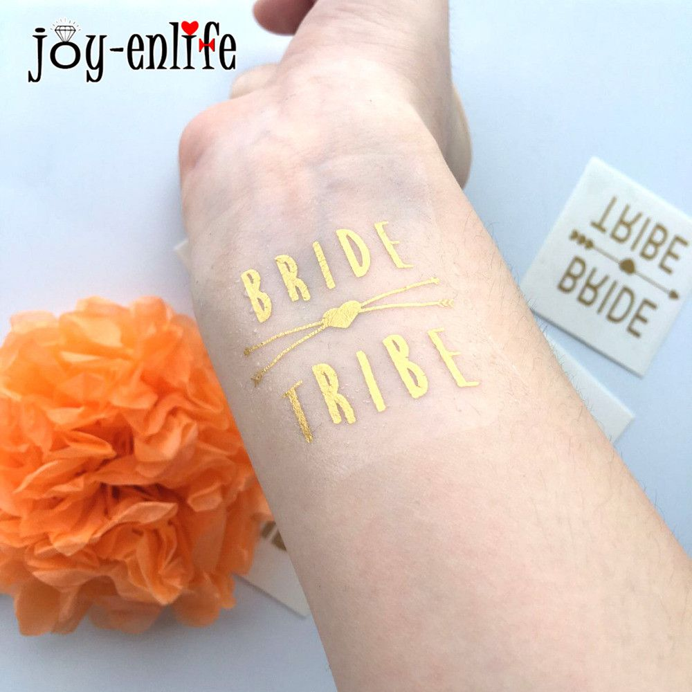 Pcs cute bride tride temporary tattoo bachelorette party