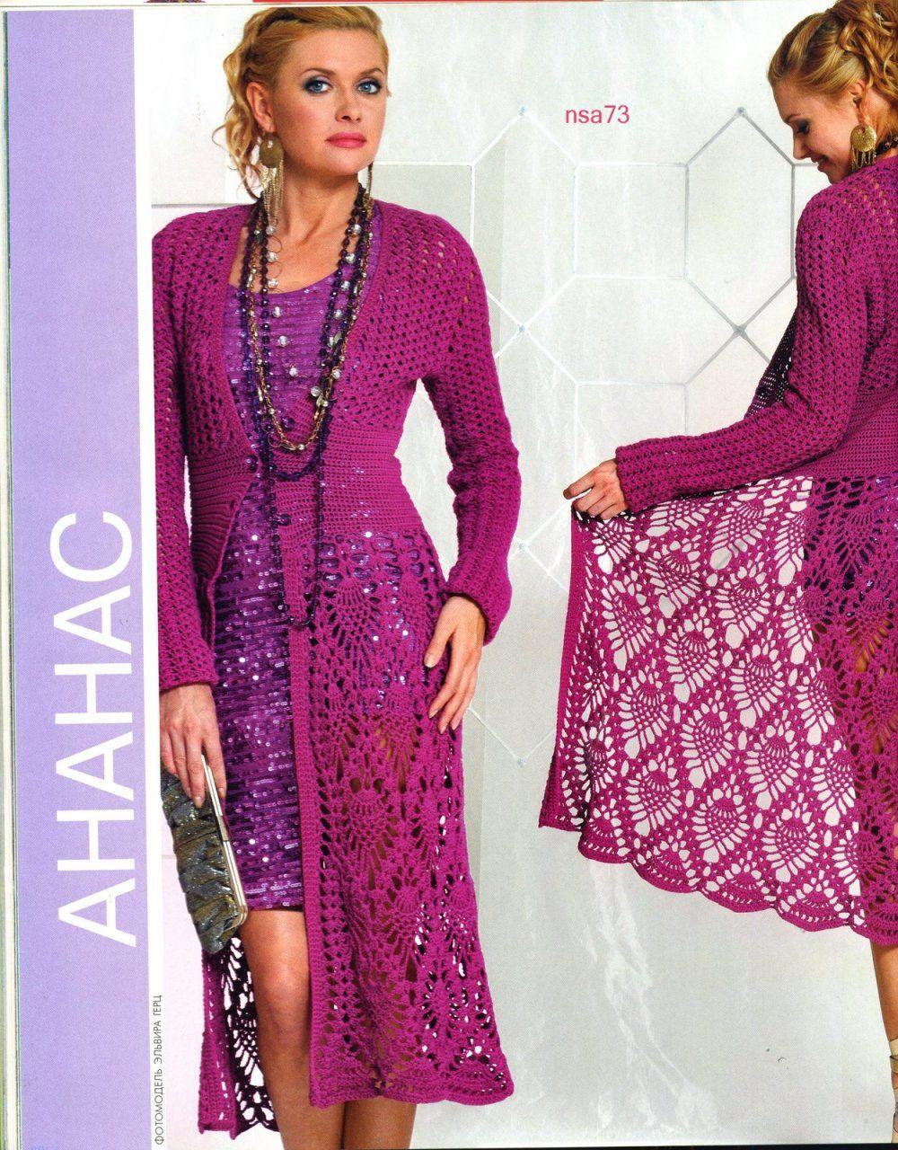 As Receitas de Crochê: Sobretudo em crochê | grafico | Pinterest ...