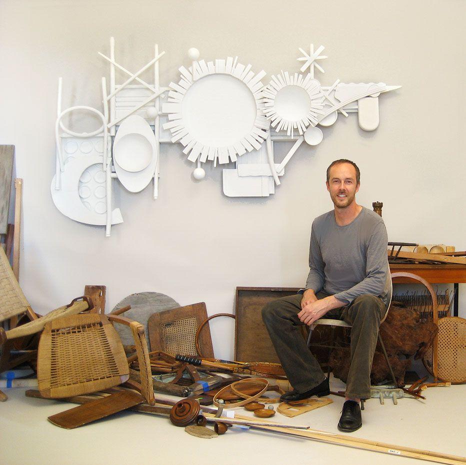 Aaron kllc sculpture abstract art reclaimed wood sculpture in