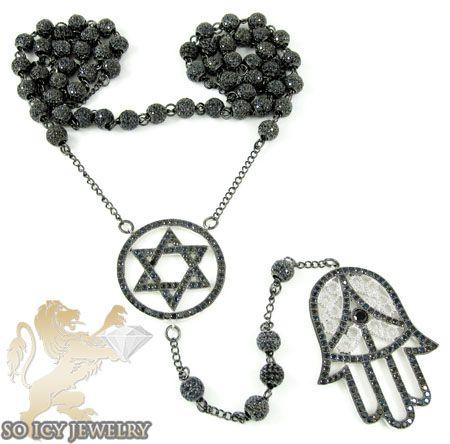 Black Jewelry Jewish Jewelry Mezuzah Jewelry Mens Gold Jewish
