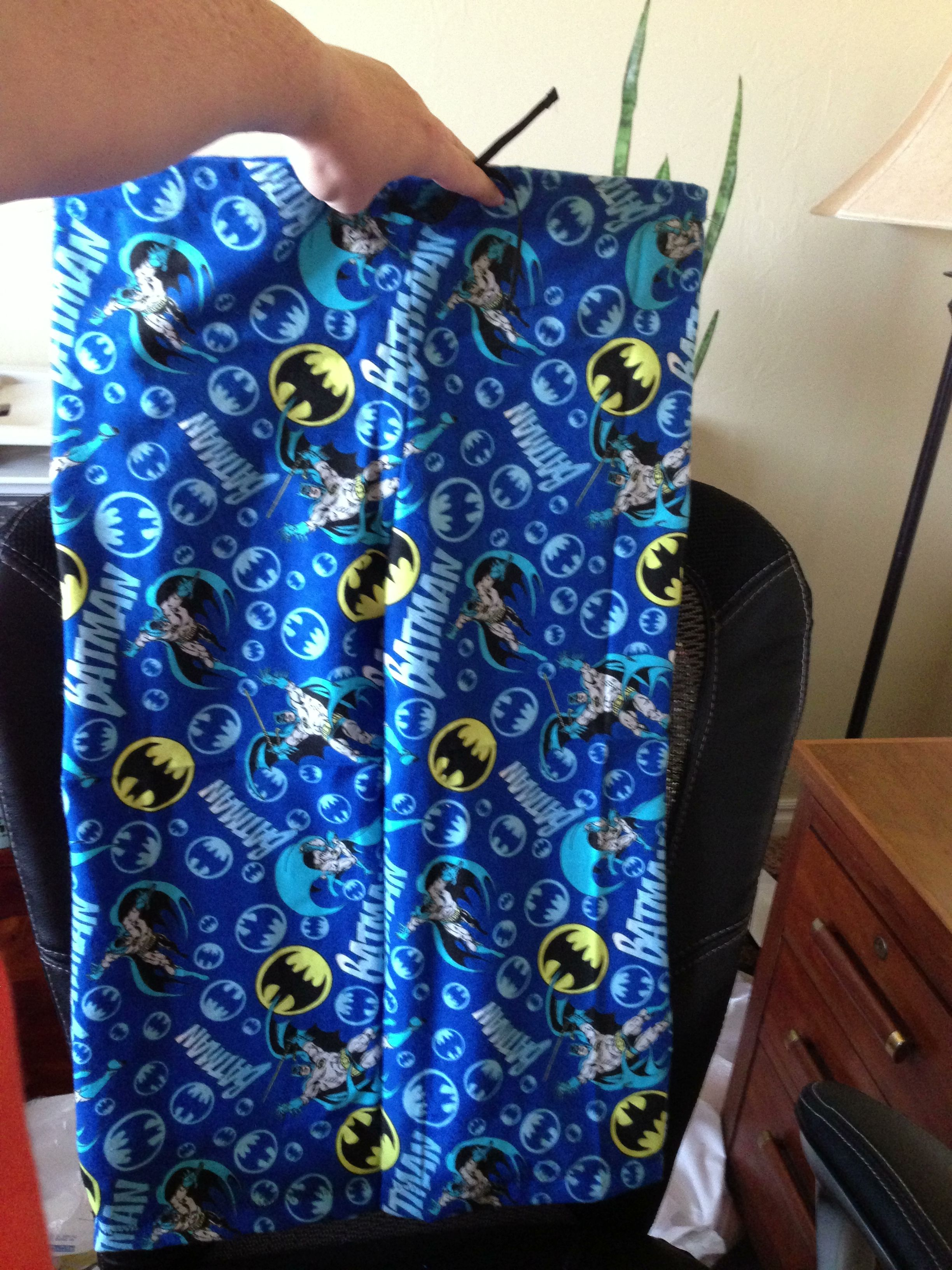 flannel Batman PJ's