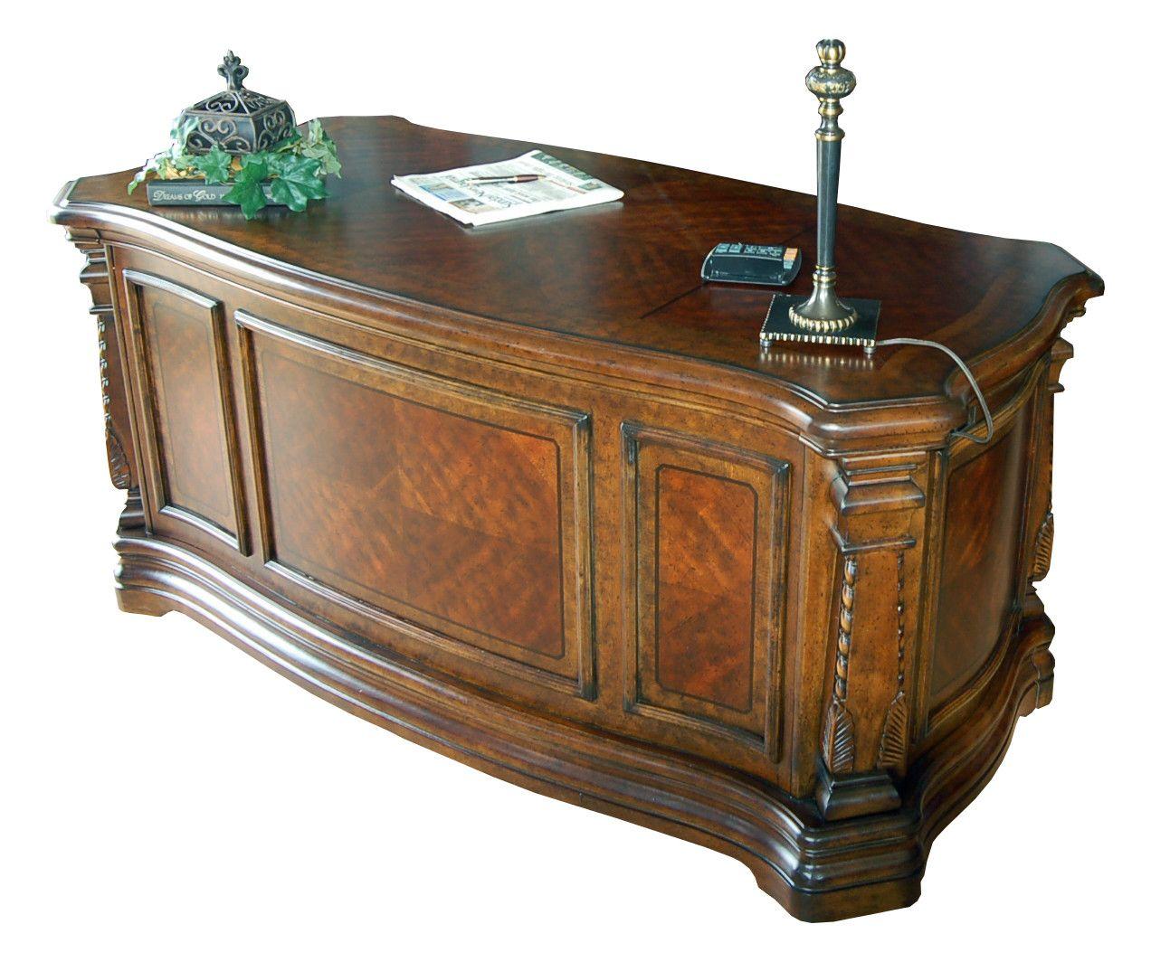 Executive Desk Ornately Detailed 60 Office Ebay