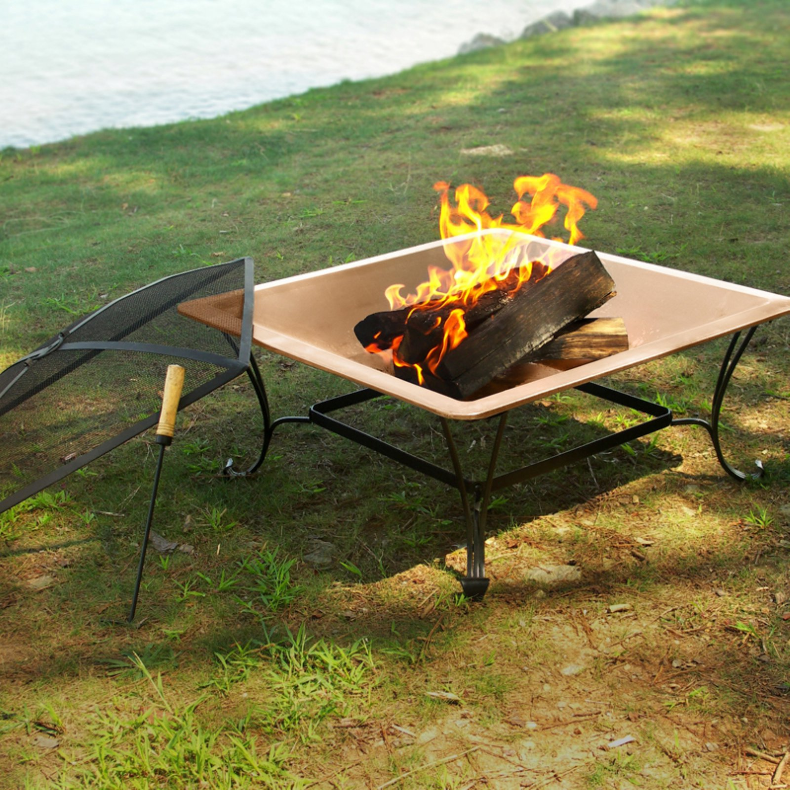 Asia Direct Florence 33 In Fire Pit With Free Cover Copper Fire