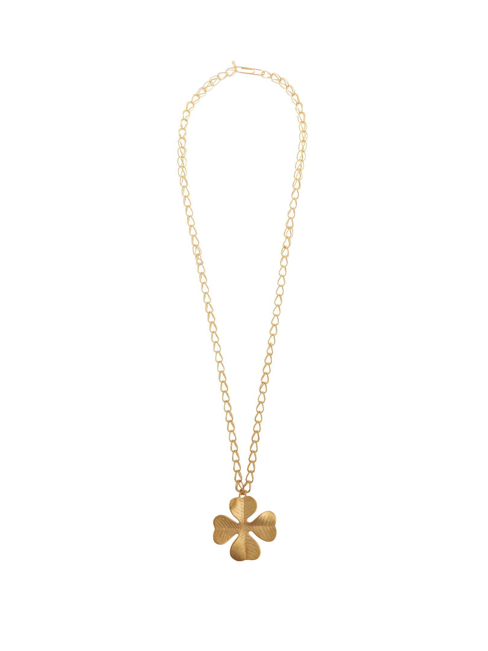 Aurélie Bidermann Aurélie Bidermann Woman Hammered Gold-tone Necklace Gold Size PR3B8U1