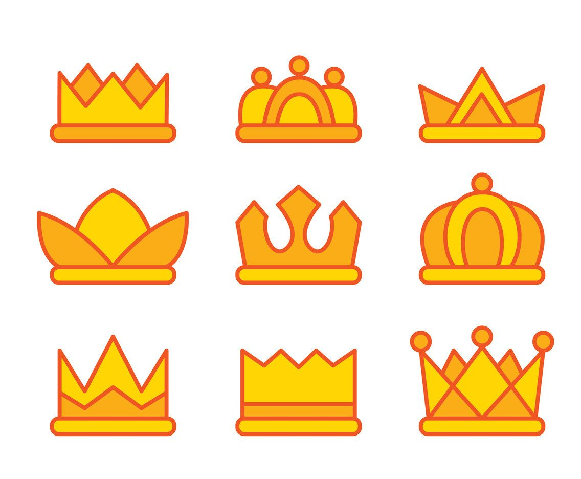 Collection Set Of Variatio Cartoon Crown Vector On White Background Cartoon Game Item Game Design Download now for free this cartoon crown clipart transparent png picture with no background. pinterest