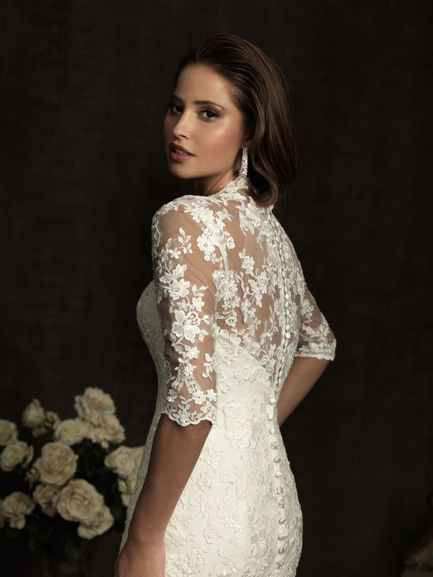 Allure bridals vintage lace wedding dress moda pinterest