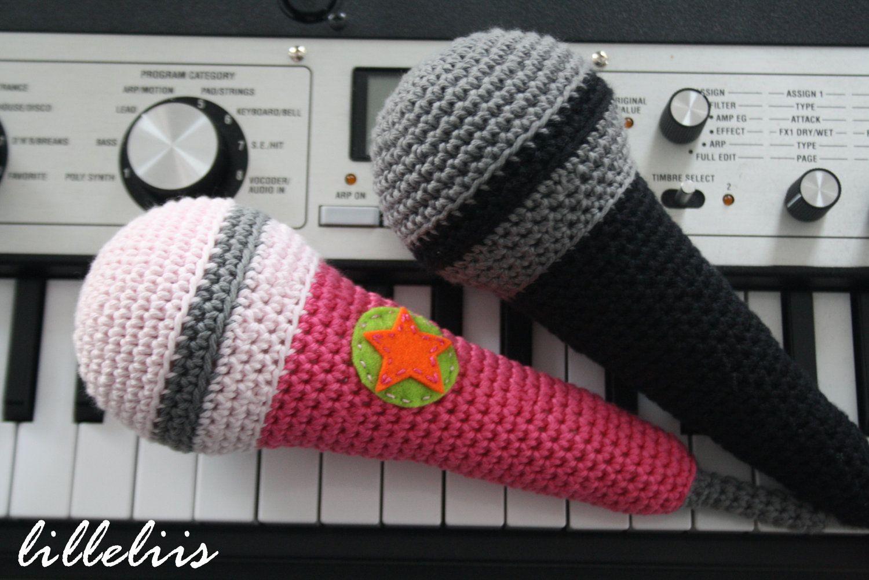 Amigurumi pattern - Superstar microphone