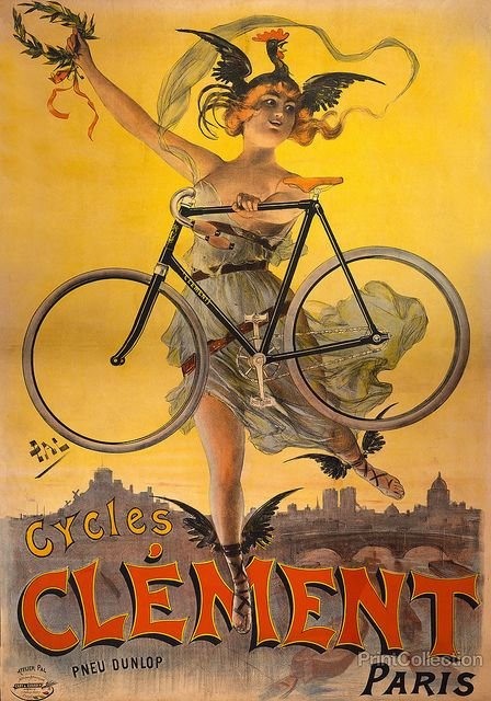 """""""Cycles Clément"""" vintage advertising from 1898."""