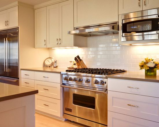 microwave in upper cabinets